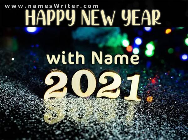 happy new year 2021 with name
